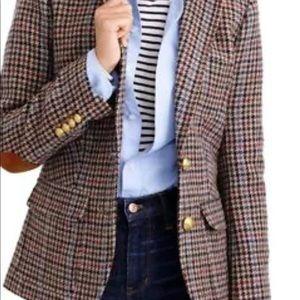 Jcrew Rhodes Blazer houndstooth Jacket 4 wool